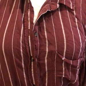 American Eagle Outfitters Tops - Burgundy Long Sleeve Blouse